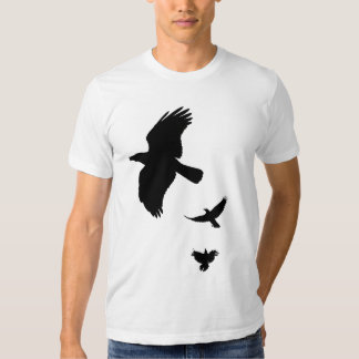 Black outlines of Crows Shirt