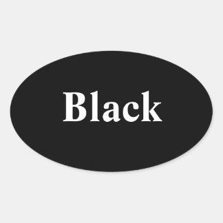 Black Oval Sticker