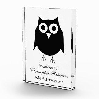 Black Owl Acrylic Award
