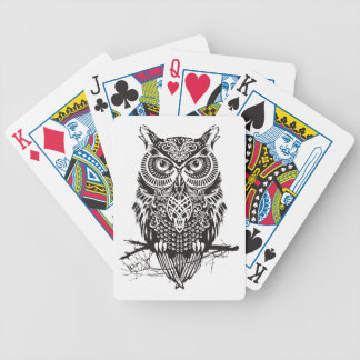 Black Owl Bicycle Playing Cards