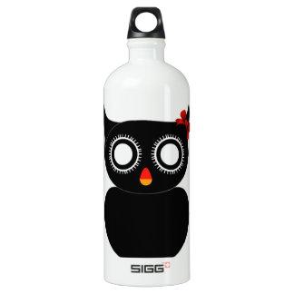 Black owl- bird of prey SIGG traveler 1.0L water bottle