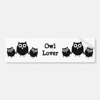 Black Owl Bumper Sticker Car Bumper Sticker