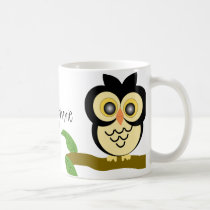Black Owl Mug Just Add Name