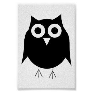 Black Owl Small Print