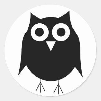 Black Owl Sticker