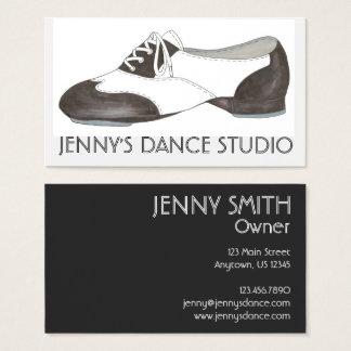 Black Oxford Tap Shoe Dance Teacher Tapdance Business Card