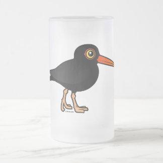 Black Oystercatcher Frosted Glass Beer Mug