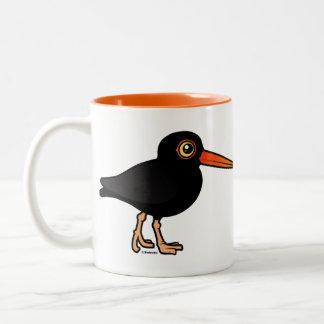 Black Oystercatcher Two-Tone Coffee Mug
