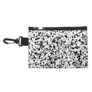Black Paint Splatter Accessory Bag