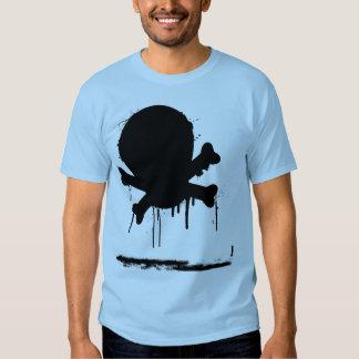 Black Painted Skull Tee Shirts