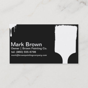 black painter business cards - Painting Business Cards
