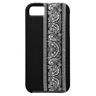 Black Paisley Bandana iPhone 5 Case