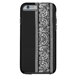 Black Paisley Bandana iPhone 6 case