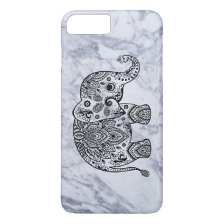 Black Paisley Elephant With White Marble iPhone 8 Plus/7 Plus Case