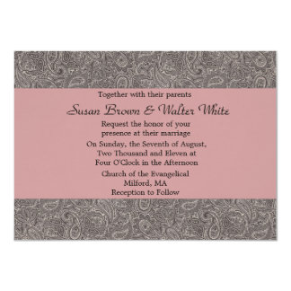 Black Paisley Wedding Invitation