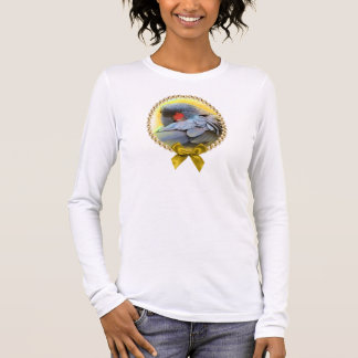 Black Palm Cockatoo realistic painting Long Sleeve T-Shirt