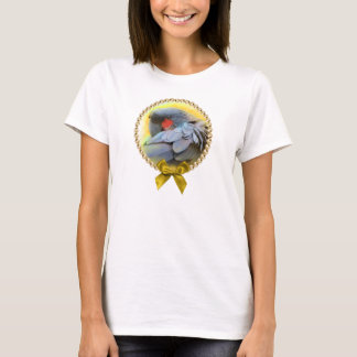 Black Palm Cockatoo realistic painting T-Shirt