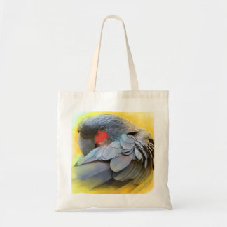 Black Palm Cockatoo realistic painting Tote Bag