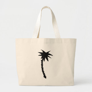 black palm icon large tote bag