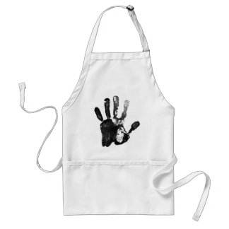 Black palm print design adult apron