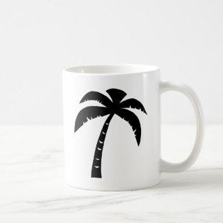 Black Palm Tree Coffee Mug