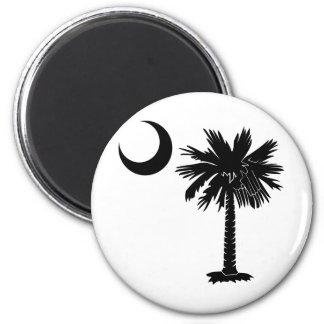 Black Palmetto Fridge Magnets