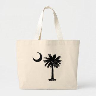 Black Palmetto Tote Bags