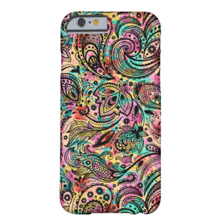 Black Palsy Over Colorful Background Barely There iPhone 6 Case