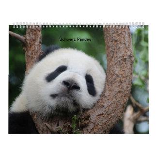 Black pandas calendar