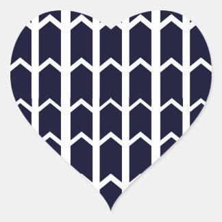 Black Panel Fence Heart Sticker