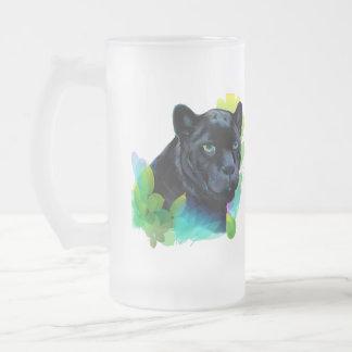 BLACK PANTHER and BLENDING JUNGLE Frosted Glass Beer Mug