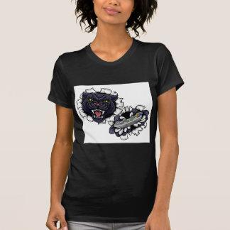 Black Panther Angry Gamer Mascot T-Shirt