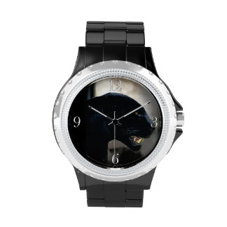 Black Panther Animal Lover Wrist Watches