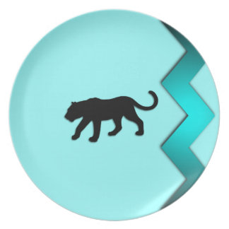 Black Panther Aqua Dinner Plate