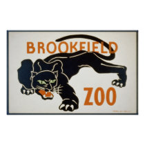 Black Panther at the Brookfield Zoo WPA Poster