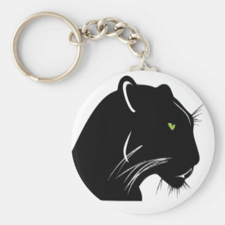 Black Panther Basic Round Button Keychain