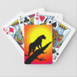 """Black Panther Bicycle Playing Cards<br><div class=""""desc"""">A black panther decorates these attractive Bicycle playing cards</div>"""
