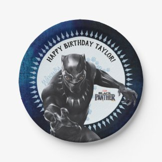 Black Panther | Birthday Paper Plate