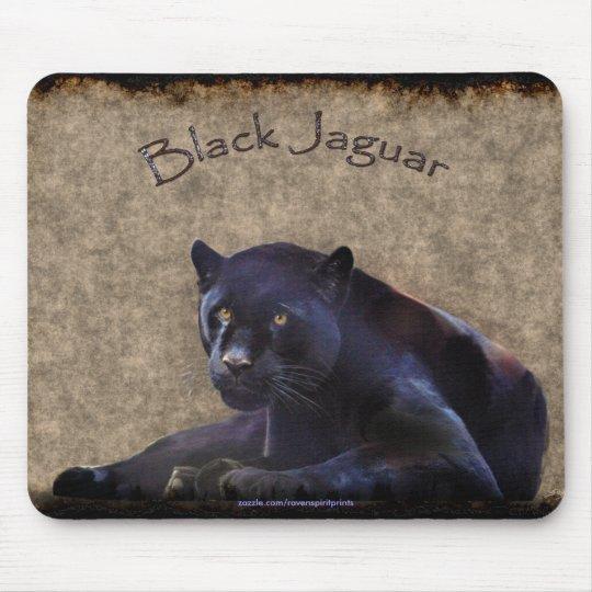 Black Panther (Black Jaguar) Wildlife Art Mousepad