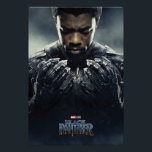 "Black Panther | Black Panther Character Poster<br><div class=""desc"">Featuring Chadwick Boseman as Black Panther 