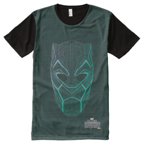 Black Panther  Black Panther Etched Mask All_Over_Print T_Shirt
