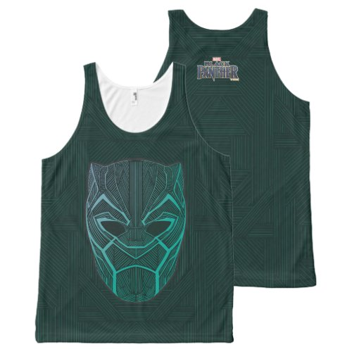Black Panther  Black Panther Etched Mask All_Over_Print Tank Top
