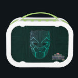 """Black Panther   Black Panther Etched Mask Lunch Box<br><div class=""""desc"""">This Black Panther head graphic is in the style of a Wakandan tribal wood carving.</div>"""