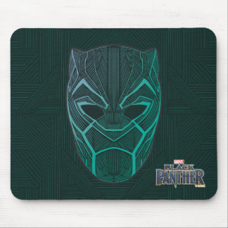 Black Panther | Black Panther Etched Mask Mouse Pad