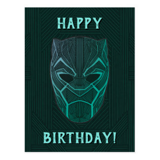 Black Panther | Black Panther Etched Mask Postcard