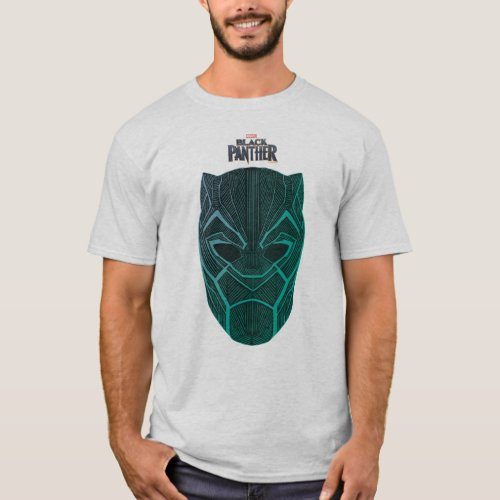 Black Panther  Black Panther Etched Mask T_Shirt