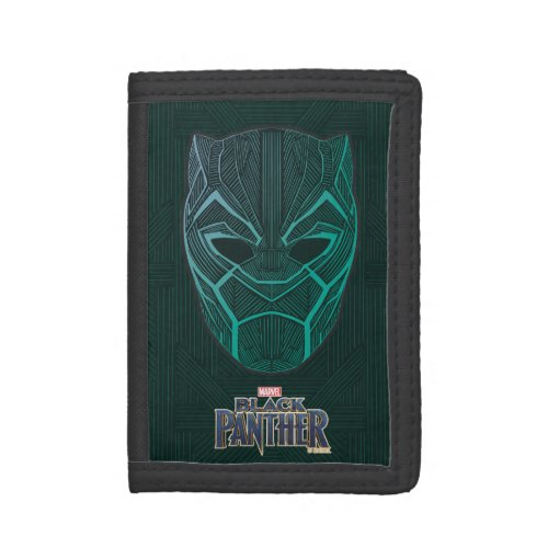Black Panther  Black Panther Etched Mask Tri_fold Wallet