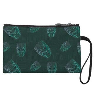 Black Panther   Black Panther Etched Mask Wristlet Wallet