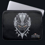 "Black Panther | Black Panther Head Emblem Computer Sleeve<br><div class=""desc"">Black Panther&#39;s head is featured in this emblem,  bordered by Wakandan tribal patterns and iconic necklace.</div>"