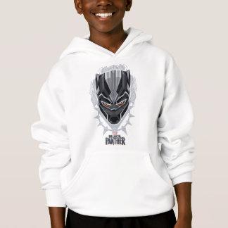 Black Panther   Black Panther Head Emblem Hoodie